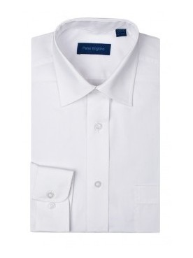 Peter England Plain Pride Shirt White