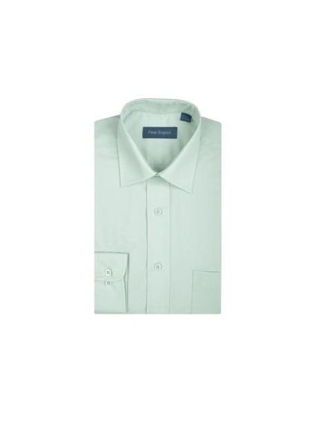 Peter England Plain Pride Shirt Sage