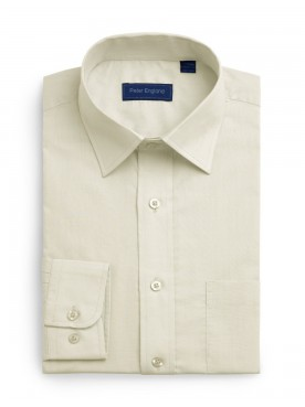 Peter England Plain Pride Shirt Ecru