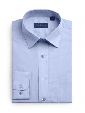 Peter England Plain Pride Shirt Light Blue
