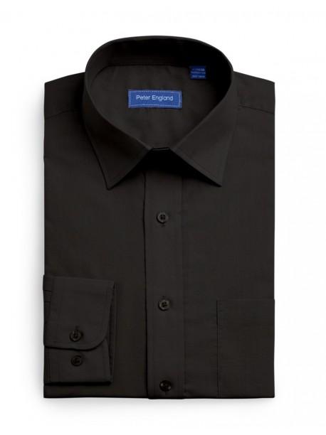 Peter England Plain Pride Shirt Black