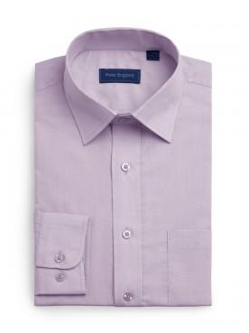 Peter England Plain Pride Shirt Lilac