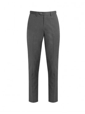 Boys Slim Fit Mid Grey Trousers