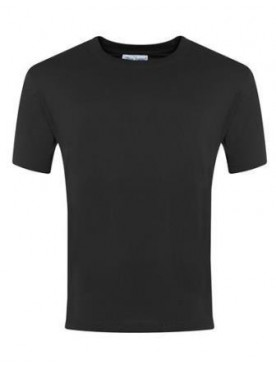 Plain T Shirt Black