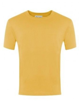 Plain T Shirt Yellow