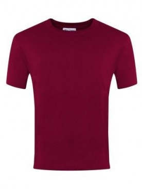 Plain T Shirt Burgundy
