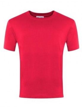 Plain T Shirt Red