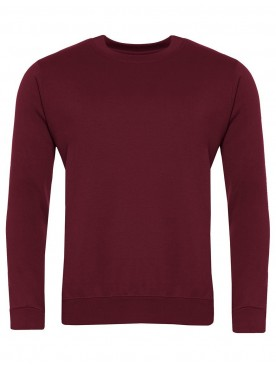 Plain Sweatshirt Burgundy