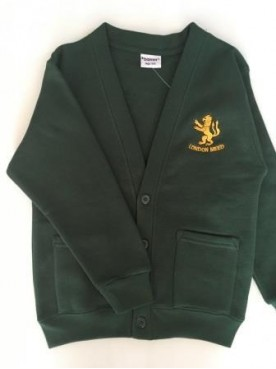 London Meed Cardigan with School Logo