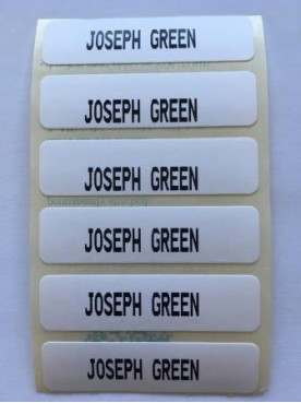 36 Iron On Name Tapes