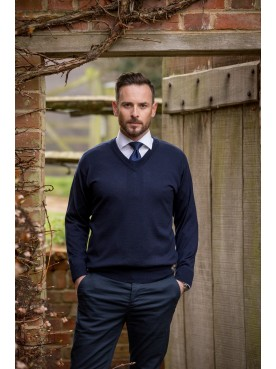 Franco Ponti V Neck Navy