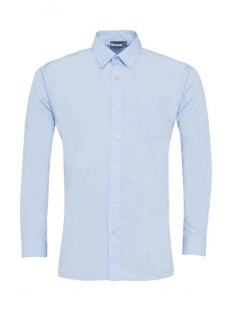 Blue Long Sleeved Shirts Twin Pack