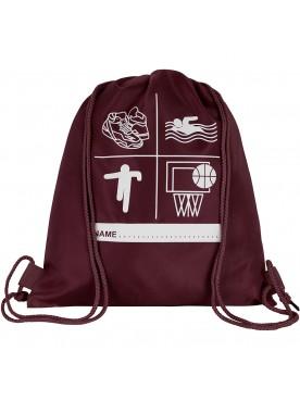 Maroon PE Bag