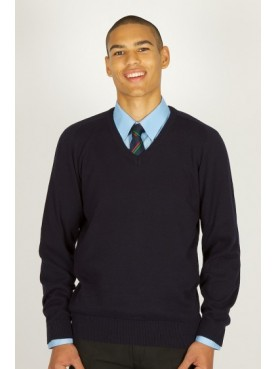 Hazelwick Cotton V-Neck Jumper