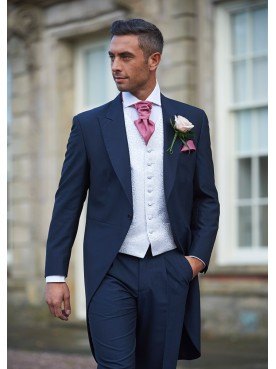 Navy Mohair Tail Suit