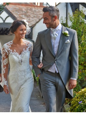 Silver Grey Mohair Tail Suit