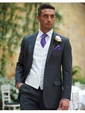 Traditional Grey Herringbone Lounge Suit
