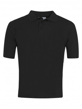 Plain Black Polo
