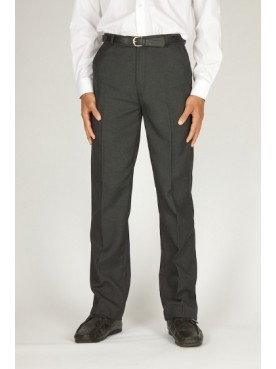 Boys Mid Grey School Trousers