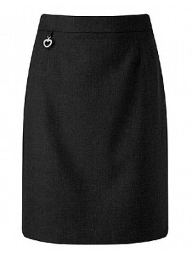 Black Junior Straight Skirt