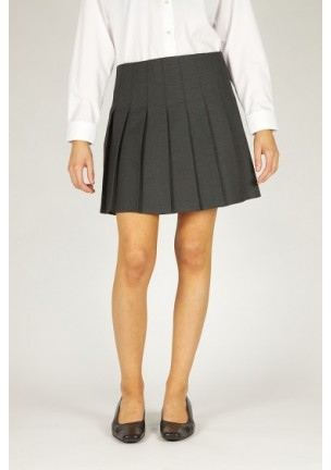 Grey Pleated School Skirt - Broadbridges